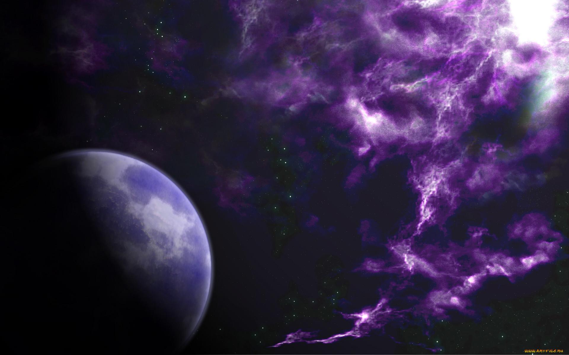космос, арт, планета, галактика